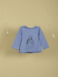 T-shirt motif animal bleu lavande TIMON 19 / 19VU2021N0FC208