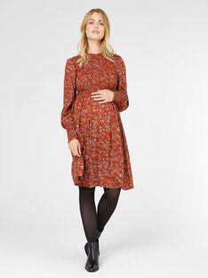 Robe de grossesse motif fleuri Mamalicious rouge MLEDA ROBE / 19IW2669N18506