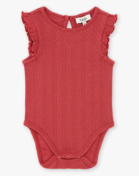 Body fille grenat coton pima  CONNIE 21 / 21VV2212N70511