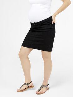 Jupe de grossesse en jean noir MLLOLA JUPE / 19IW2661N07K003
