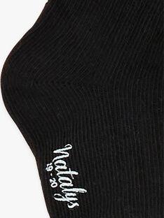 Chaussettes noires garçon BASIGA 20 / 20IU6152N47J915