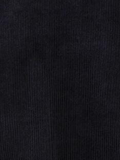 Barboteuse fille en velours milleraies bleu nocturne  BRENDILINE 20 / 20IU1951N27713