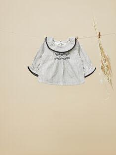 Blouse vanille en toile de coton fille  VIFANNY 19 / 19IV2211N09114