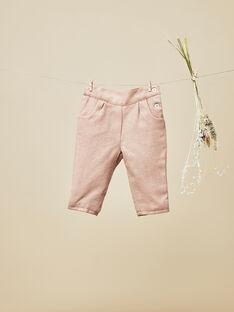 Pantalon rose pétale bébé fille  VENISE 19 / 19IU1912N03309