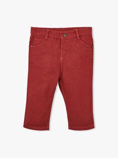 Pantalon coupe droite rouge brique garçon  AURELIEN 20 / 20VU2011N03506