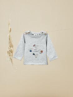 Tee-shirt manches longues gris chiné bébé garçon  VENTURA 19 / 19IU2012N0F943