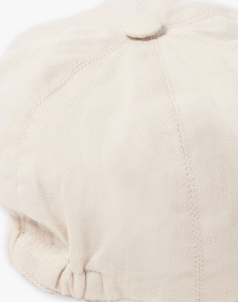 Casquette garçon en twill couleur lin  CABREL 21 / 21VU6112N84A016