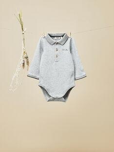 Body col polo gris chiné bébé garçon VALBERT 19 / 19IU2012N29943