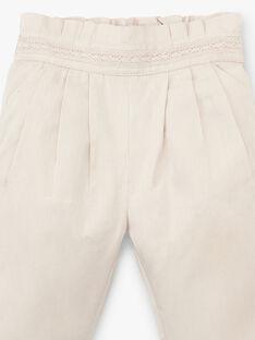 Pantalon coupe carotte fille beige clair  AMBOISINE 20 / 20VU1912N03801