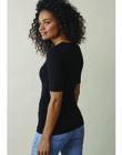 T-shirt de grossesse & allaitement Boob noir BOFLATTER TS / 20VW2641N3D090