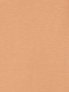 Body mixte manches longues caramel en coton pima   DANO 21 / 21PV2413N2D420