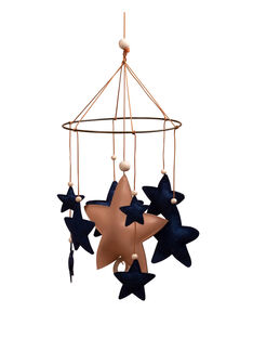 Mobile musical cuir fait main Shooting star Filibabba bleu MOB STAR BLEU / 20PJJO002MOB999