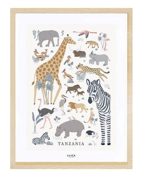 Affiche tanzania 30x40cm cadre naturel AF TANZAN 30X40 / 21PCDC016DMU999