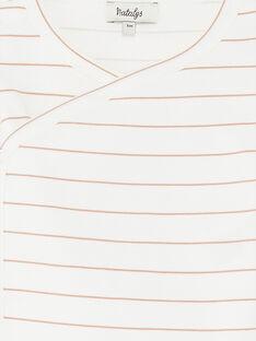 Body croisé mixte manches longues rayé   DOUWI 21 / 21PV2411N2D114