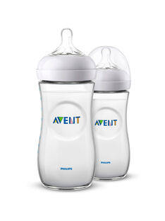 2 biberons natural Avent Philips 330 mL  BIB NAT 330 X2 / 20PRR1009BIB999