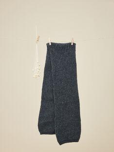 Écharpe en tricot gris anthracite garçon  VECHARPE 19 / 19IU6131N50944