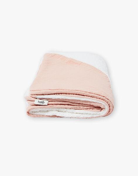 Cape de bain rose gaze de coton fille  KAMILLE-EL / PTXQ6212N73030