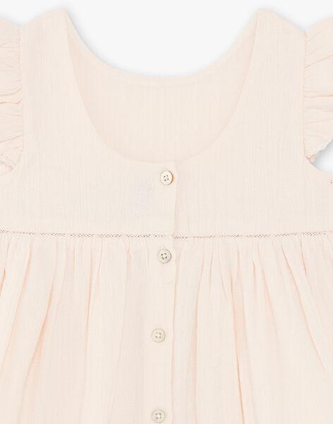 Robe et bloomer rose clair en crêpe de coton fille CYBELLE 21 / 21VU1911N18321