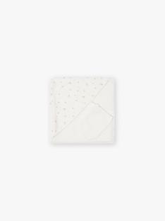 Cape de bain fille en double gaze de coton vanille imprimé petites fleurs DIBAIN 21 / 21PV5911N73114