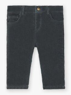 Pantalon chino vert de gris garçon  BONIFACE 20 / 20IU2081N03631