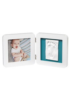 Cadre 2 volets My Baby Touch Baby Art blanc 34x17x2 cm dès la naissance BABY TOUCH 2 BL / 19PCDC004APD000
