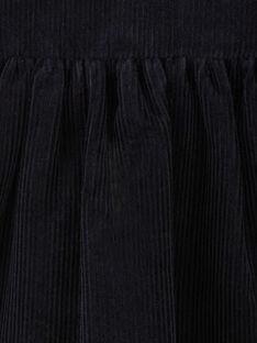 Robe fille en velours milleraies bleu nocturne  BODILIVE 20 / 20IV2253N18713