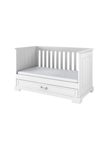 Lit bébé Inès Natalys blanc 70x140 cm (0-7 ans) LIT INES 70B / 14PCMB011LBB000
