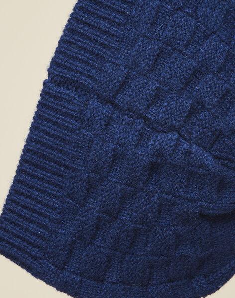 Bonnet en tricot marine garçon  VILLE 19 / 19IU6132N49070