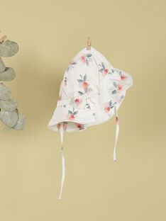 Chapeau blanc à fleurs rose blush fille TOFANNY 19 / 19VU6021N55D300