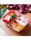 Coffret repas assiette & cuillère Béaba rose 18,3x21,6x4 cm dès 4 mois SET SILI ROSE / 19PRR2005CRE030