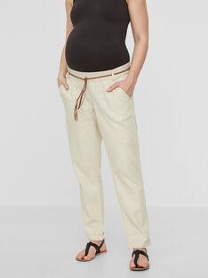 Pantalon de grossesse beige MLBEACH PANT / 19VW2683N03080