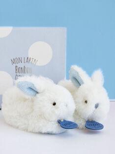 Coffret chaussons lapin Bonbon bleu CHAUSS LAPIN BL / 12PJPE019MIP020