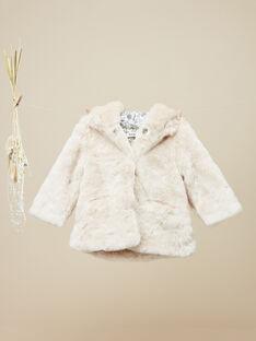 Manteau à capuche rose poudré fille  VAVILMA 19 / 19IU1931N16D327