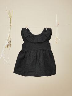 Robe chasuble avec lurex noir fille  VALINA 19 / 19IU1939N18090