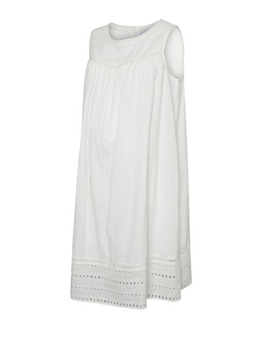Robe de grossesse blanche brodée MLANGIE DRESS / 19VW268AN18000