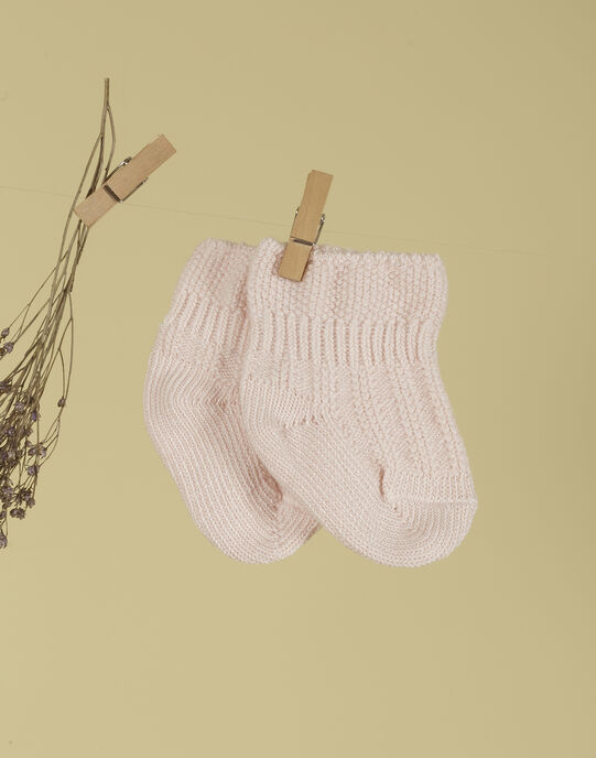 Chaussettes rose tendre mixte TALENTINE 19 / 19PV7025N47307