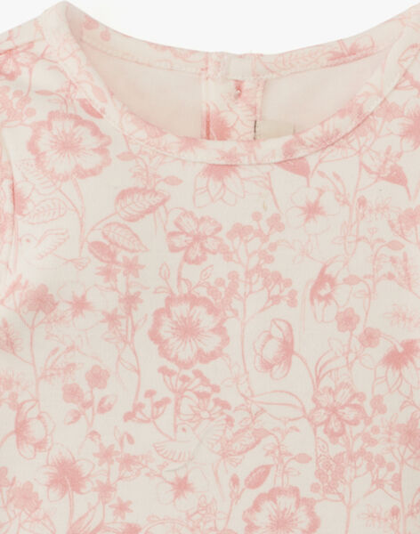 Body fille imprimé floral coton pima AMBRE 20 / 20PV2211N67114