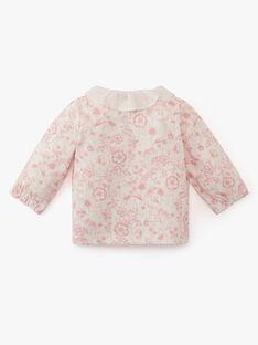 Chemisier en jersey coton pima imprimé floral  ASTREE 20 / 20PV2211N0C114
