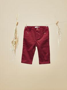 Pantalon grenat bébé garçon  VIAN 19 / 19IU2014N03511