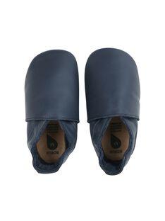 Chausson cuir classics bleu marine 9 15 mois CHAUS BLEU M / 20PBDP007SOU070