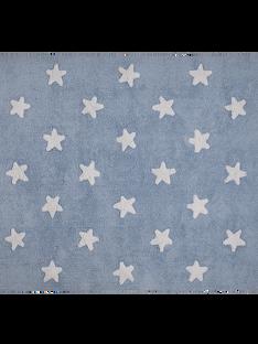 Tapis bleu étoiles blanches TAPIS BLEU ETOI / 14PCDC072APD205