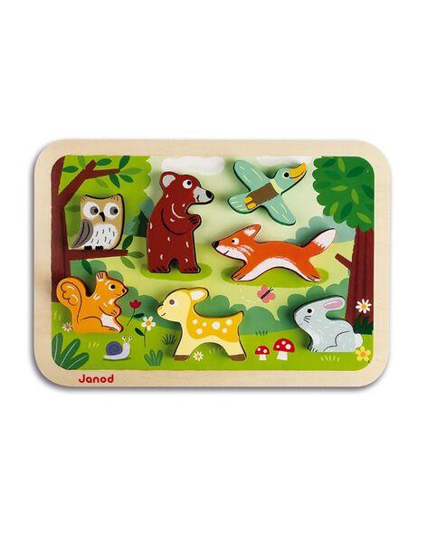 Puzzle chunky foret en bois PUZZ CHUN FORET / 21PJJO006JBO999