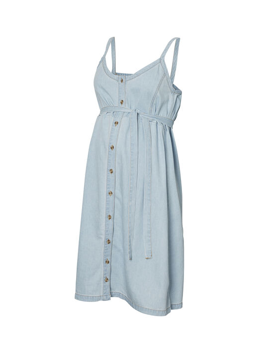 Robe de grossesse en jean bleu ciel MLCAMELIA DRESS / 19VW268CN18704