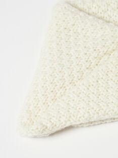 Snood fille vanille tricot fantaisie en laine mérinos et cachemire BETANIE 20 / 20IU60C2N50114