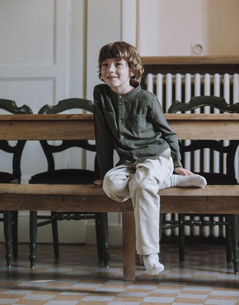 Chemise manches longues vert forêt enfant garçon DUARTE 468 21 / 21I129211N0A600