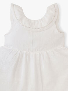 Robe et bloomer fille blanche en matière motif floral  ALLISON 20 / 20VU191AN18000