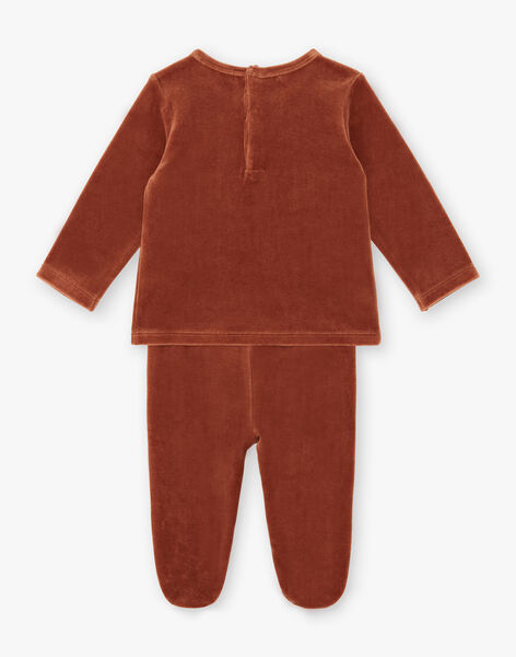 Pyjama deux pièces Rouille en velours bio BULOTIN-EL / PTXX6611N33408