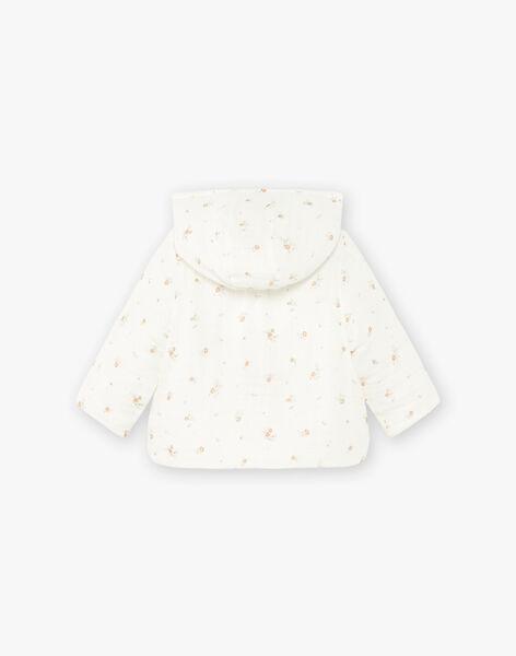 Veste fille en double gaze de coton vanille imprimé petites fleurs DINI 21 / 21PV2211N17114