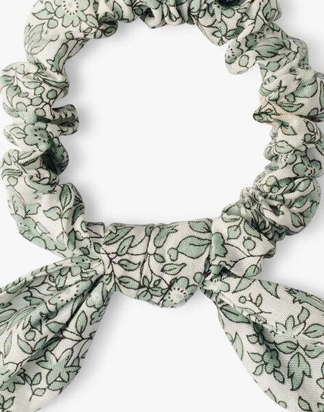Chouchou fille en imprimé Liberty petites fleurs vertes  AMOUE 20 / 20VU6013N95602