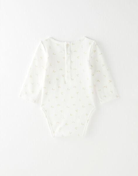 Body fille en interlock coton pima vanille imprimé irisé  BAGATHA 20 / 20IV2252N67114